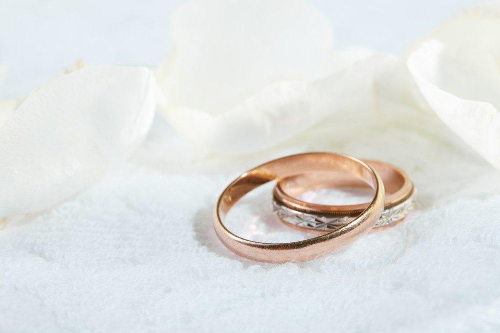 bronze wedding bands