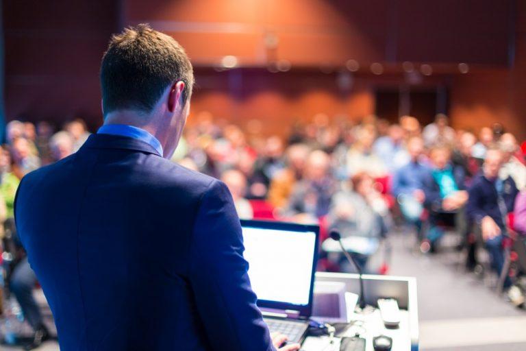 speaker in a corporate event