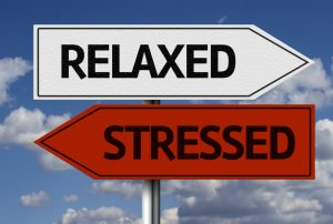 relaxed and stressed arrow signs