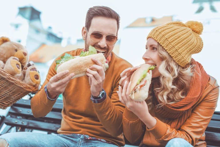 couple eating together