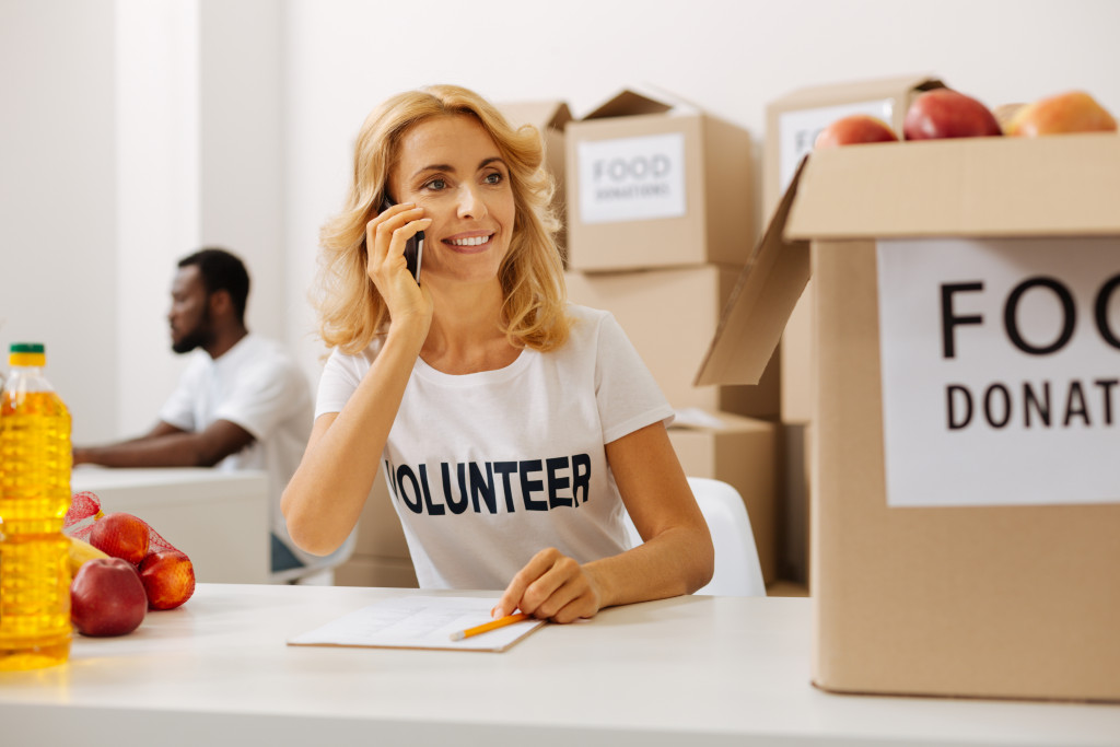 volunteer at work